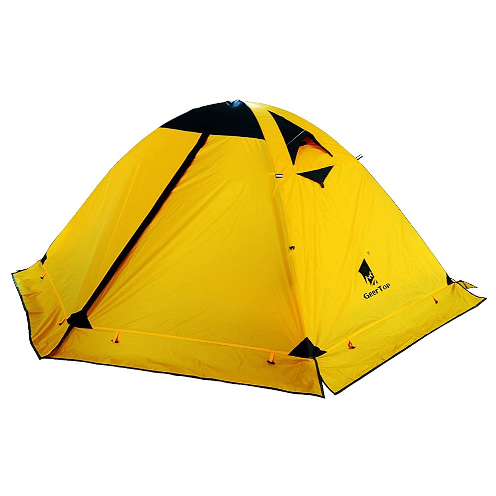 GEERTOP Tienda de Campaña Iglú Camping Estaciones Personas Ligera Impermeable UV Resistente