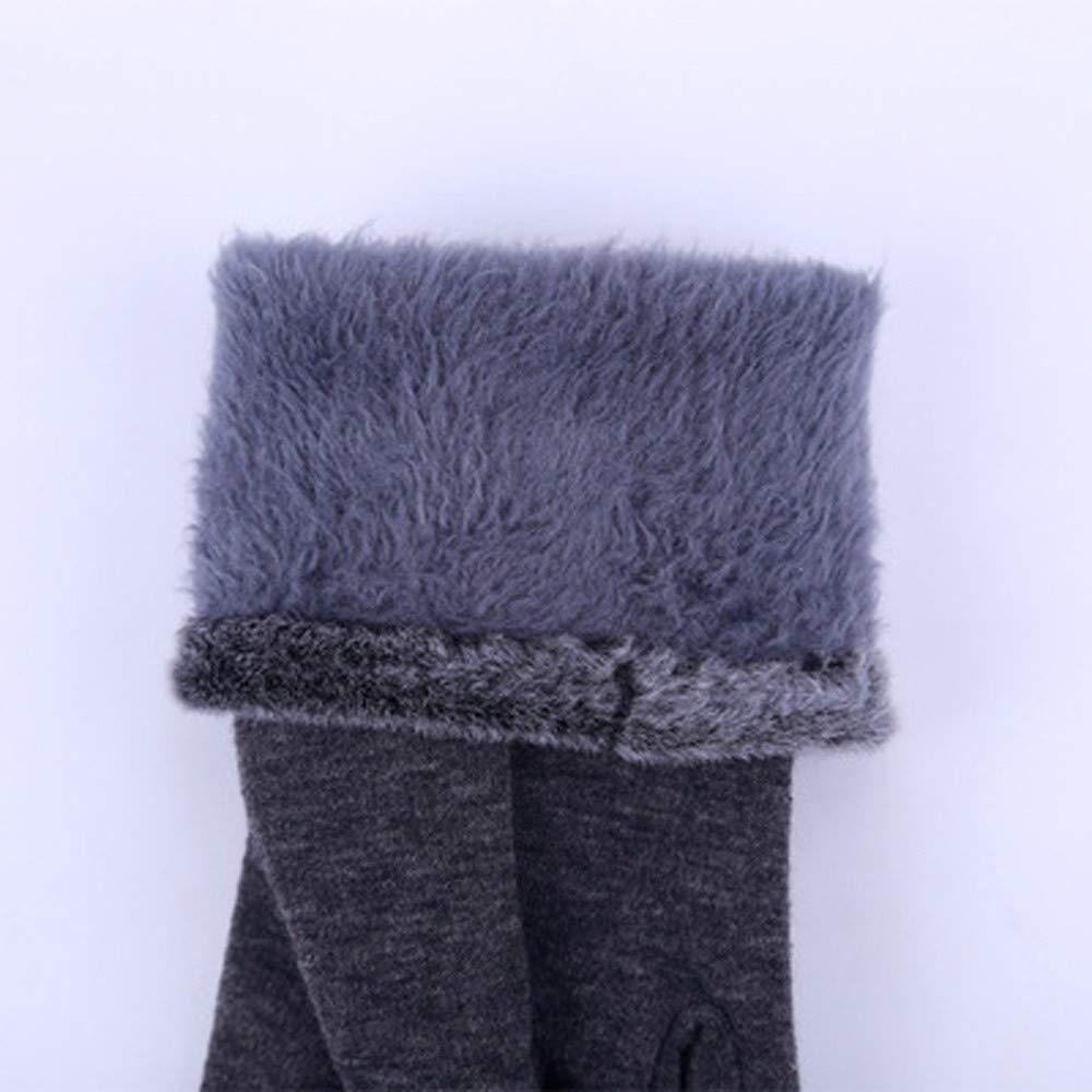 Women Fashion Fluffy Winter Warm Full Finger Hand Gloves Ski Wind Protect Hands