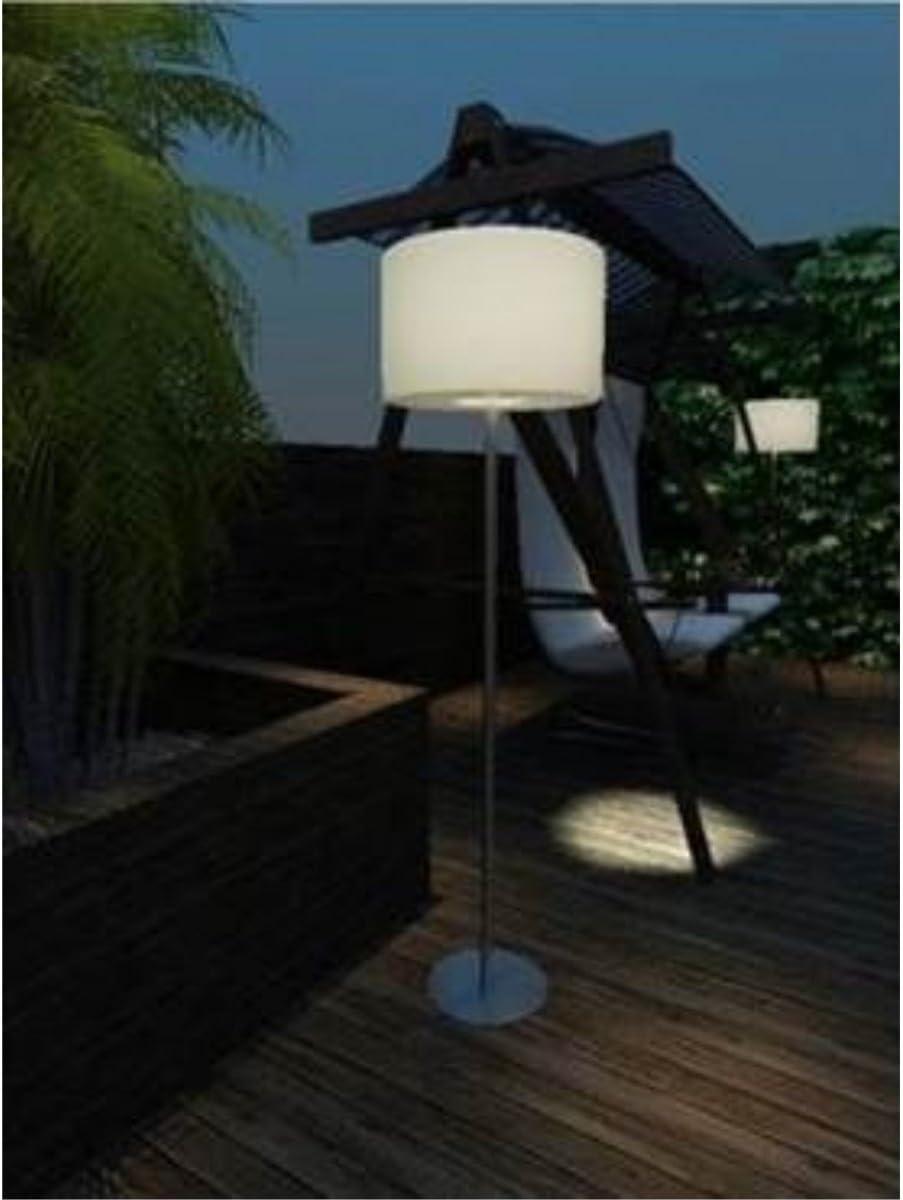 Garten Stehlampe 143 Cm Aus Metall Mit Kunststoff Schirm Ste