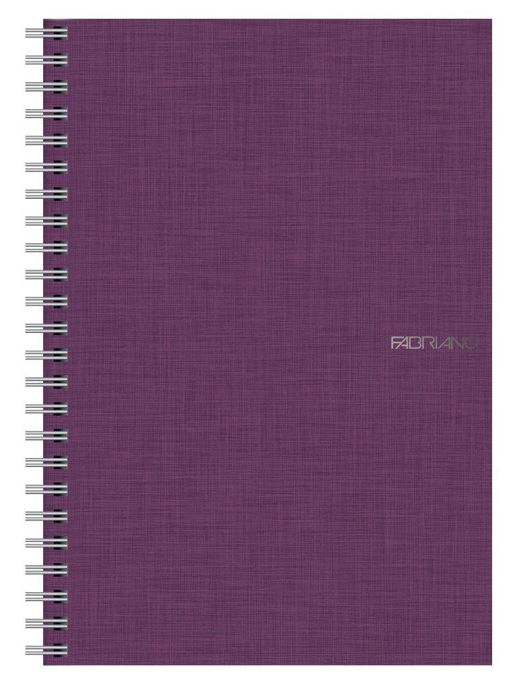 Fabriano EcoQua Notebooks spiral grid wine 5.8 in. x 8.25 in.