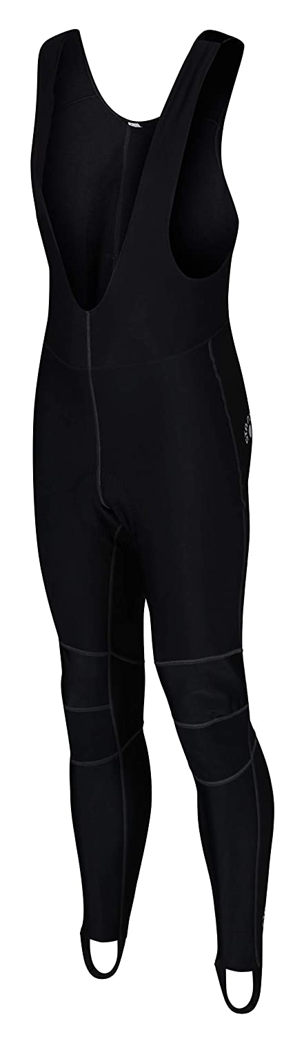 Mens cycling windproof long bib tights bike padded pants trousers