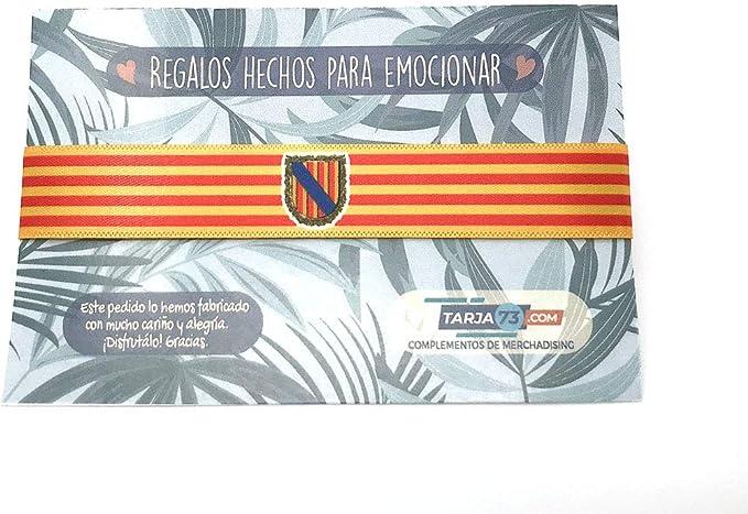 Pulseras de tela con mensaje: BANDERA DE LA COMUNIDAD AUTÓNOMA DE LAS ISLAS BALEARES | Regalo original: Amazon.es: Hogar