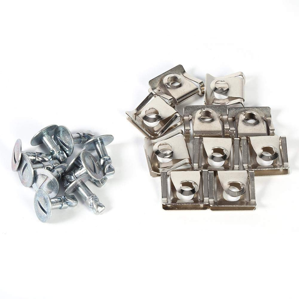 Undertray Clips 10x Under Engine Cover Screw Undertray Metal Clips For 8D0805121