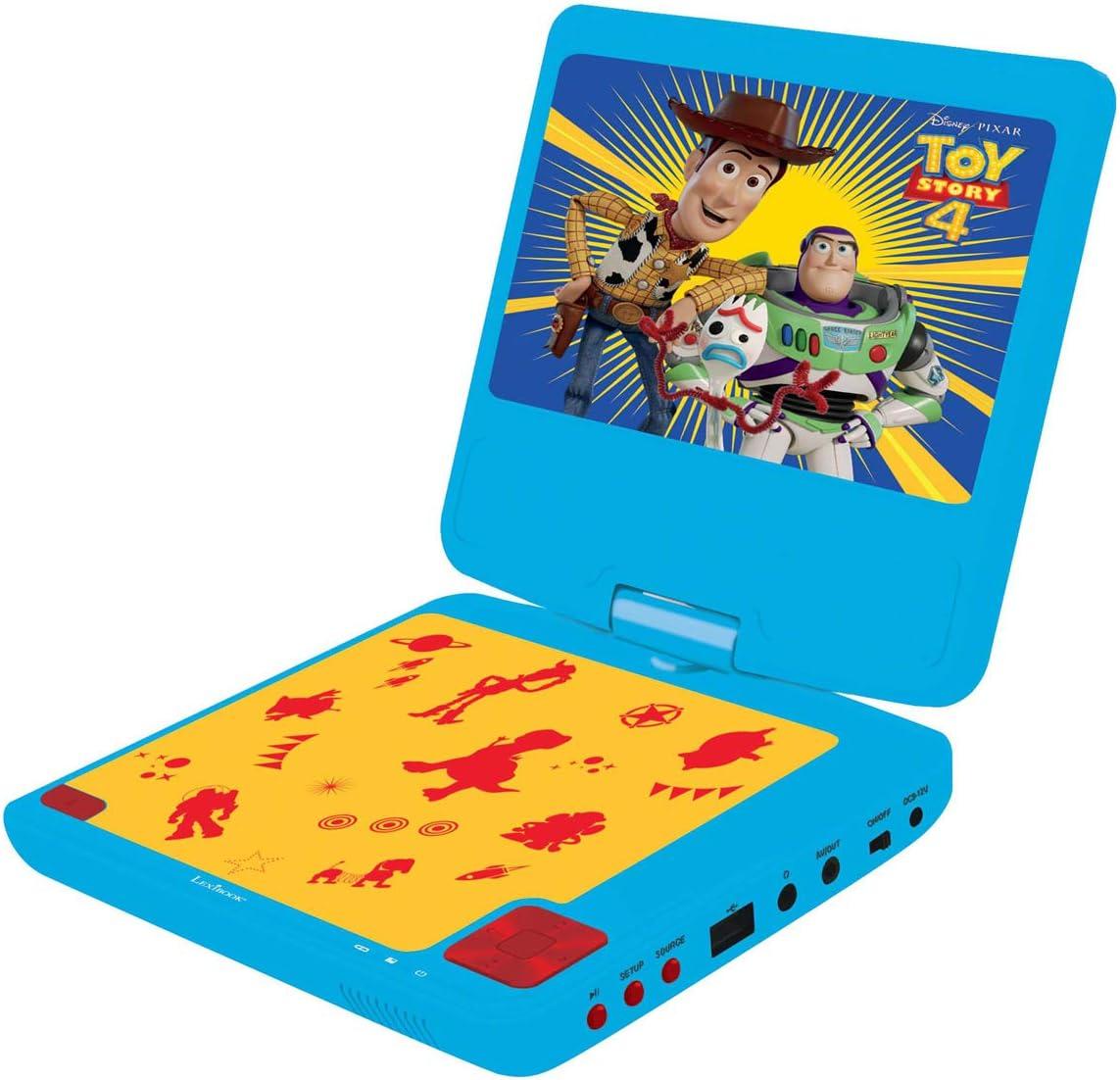 Amazon.es: LEXIBOOK Tos Disney Toys Story 4-Lector DVD portátil, Pantalla LCD giratoria 7