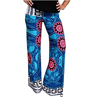 0c912f445f0a64 G2 Chic Women's Printed Harem Pant with Pockets(BTM-PNT, BEG-S) at ...