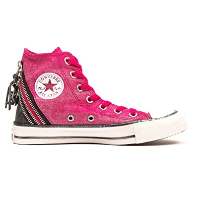 ab384eec05e Converse Unisex Adults  Chuck Taylor All Star Femme Sparkle Wash Tri Zip Hi  Gymnastics Shoes