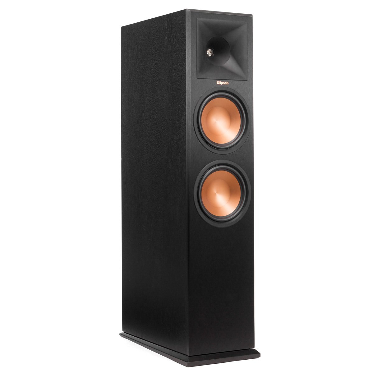 Klipsch RP-280FA Floorstanding Speaker with Built-In Dolby Atmos Height Channel - Each (Ebony Vinyl) by Klipsch