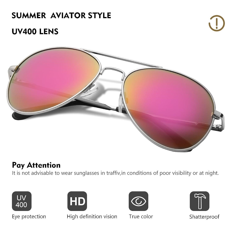 Occffy Pilotenbrille Sonnenbrille für Herren und Damen UV400 Schutz ...
