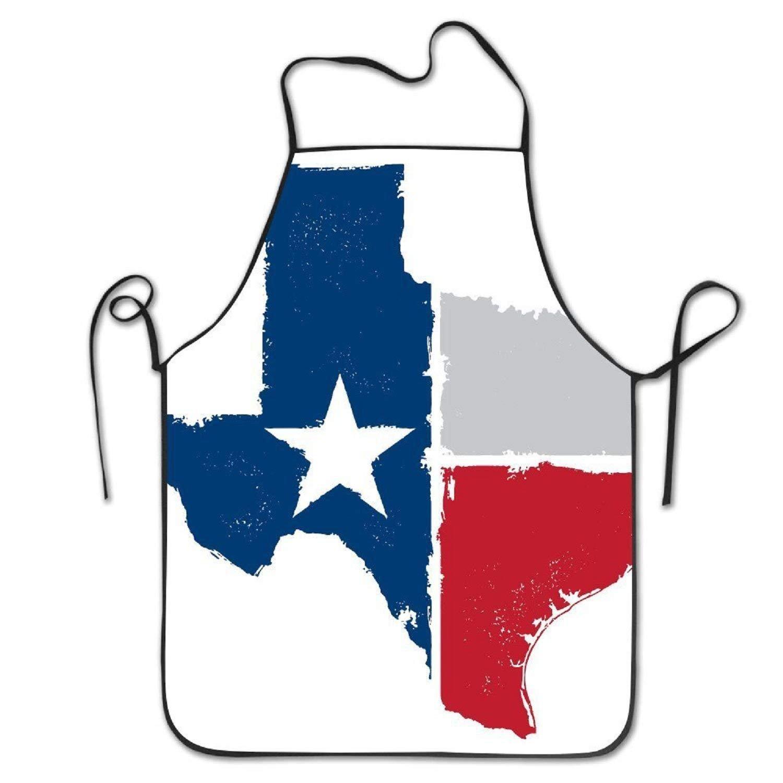 amiuhoun Texas State FlagヴィンテージCookingレディースメンズ面白いクリエイティブ印刷料理エプロン   B07FSR2DF2