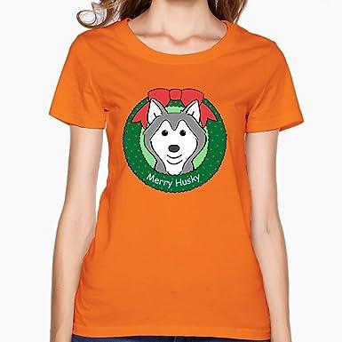 Amazon Com Oyavdsznq Women Siberian Husky Christmas Casual Style