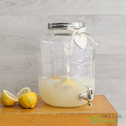 Dispensador bebidas de cristal. 8 litros