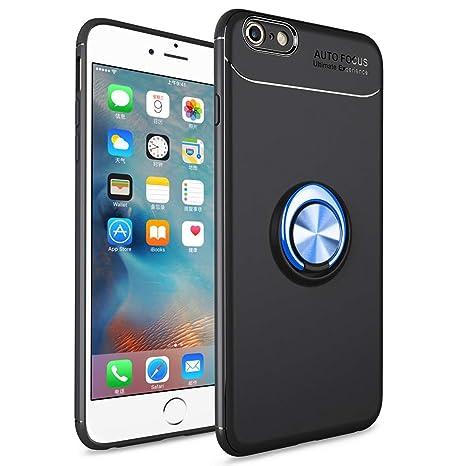 SORAKA Funda iPhone 6 Plus, Funda iPhone 6S Plus,Soporte rotación de 360 Grados, Carcasa de TPU Delgada y Compatible con Soporte magnético para Coche
