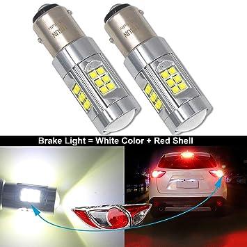 HSUN BAY15D P21/5W 1157 LED Bulbo,12V-24V 150W Alto Voltaje 30LED