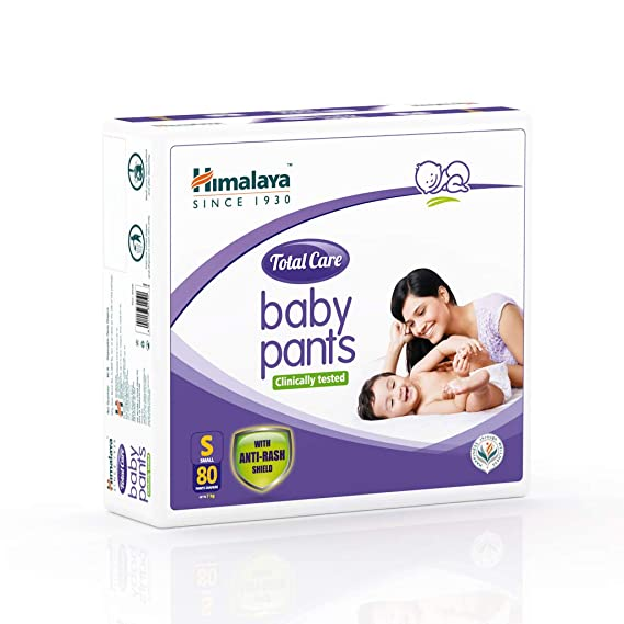 Himalaya Total Care Baby Pants Diapers, Small, 80 Count