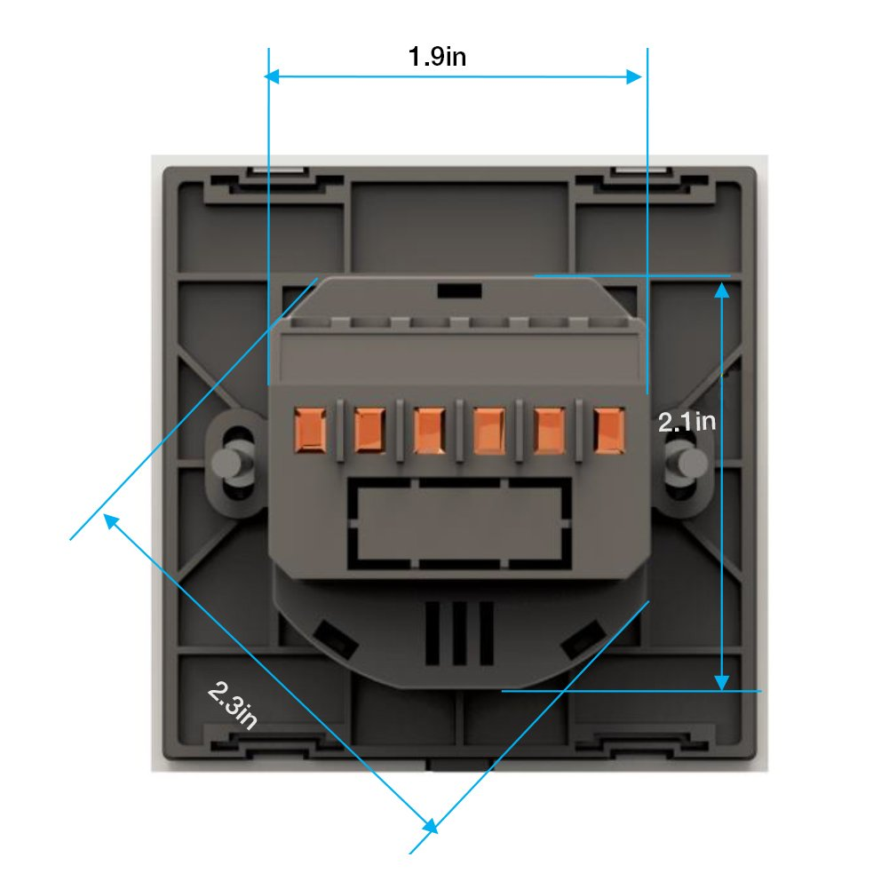 Smart Home Wall Light Switch 2 Gang Wifi Touch Sensitive Glass 1 Way Wiring Diagram Uk Finish Remote Control Lightscompatible With Alexa Echo Google Support Android And