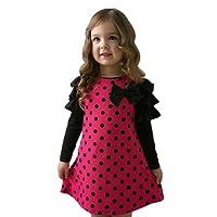 Sunnywill Baby Jungen Mädchen Dot Bow Prinzessin Kleid Sundress Outfits Kleidung