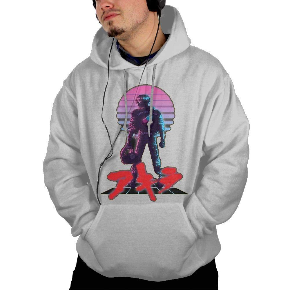Mens Hooded Pocket Sweatshirt Sweater Akira 80s Inspired Kaneda Personalized Fashion Customization Ash