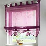 SIMPVALE tende finestra interna in stile romano pura cucina soggiorno e balcone, Poliestere, viola, larghezza 120 cm / altezza 155 cm