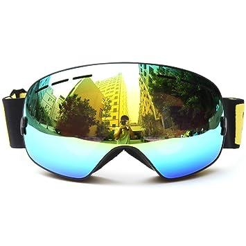 Gafas de esquí profesionales Benice, doble lente, antiniebla, protección UV, grandes gafas