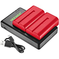 Neewer NP-F550 Battery Charger Set for Sony NP F970,F750,F770,F960,F550,F530,F330,F570,CCD-SC55,TR516,TR716,TR818,TR910…