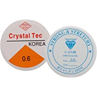 D DOLITY 20 m elastische draad stretchy snoer voor sieraden, die 0,6 mm + 0,8 mm maakt