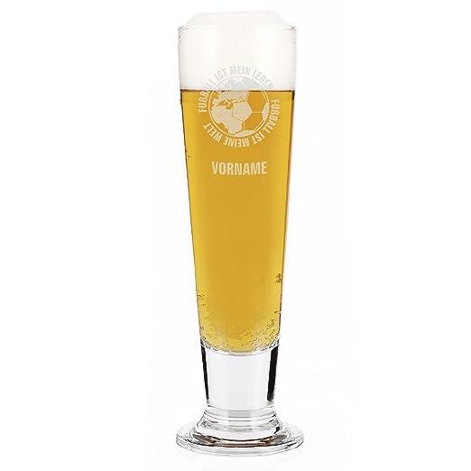 Leonardo Vaso de Cerveza Pilsner con Grabado del Nombre - Diseño ...