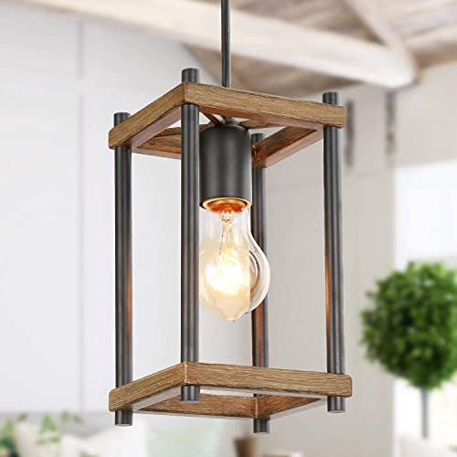 KSANA Pendant Lighting for Kitchen Island,Faux-Wood Pendant Light,Farmhouse Lighting for Dining,Foyer,Entry,Living Room