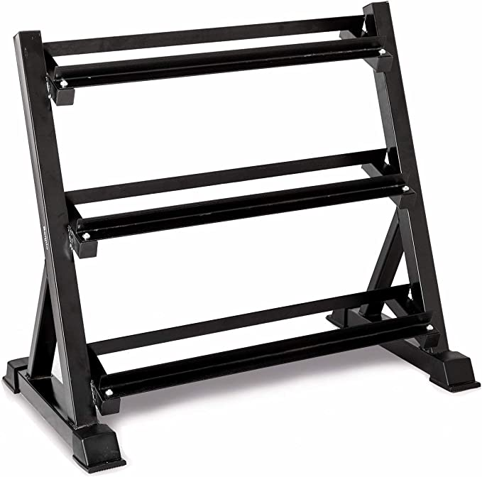 Blawardo Dumbbell Rack,3-Tier Dumbbell Storage Rack,Small Dumbbell Weight Rack in Tree Shape,Space Saving Dumbbell Stand for Multilevel Hand Weight Tower Stand,Home Sports Equipment