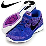 Nike Women's Wmns Flyknit Lunar3, GAME ROYAL/BLACK-FUCHSIA FLASH-VIVD PURPLE, 7 US