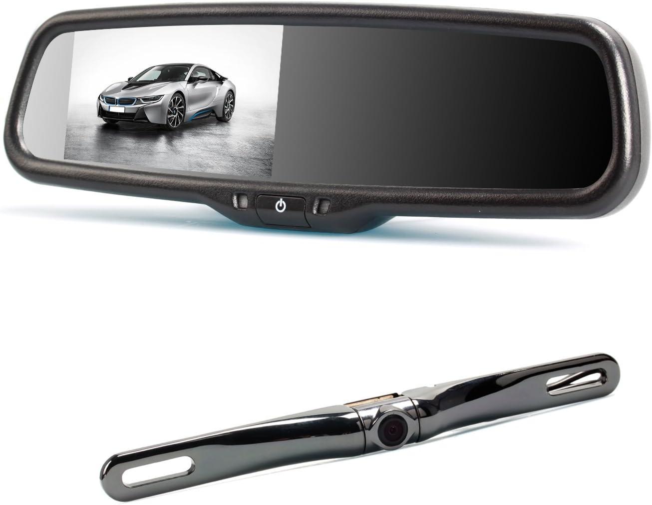 Auto Vox 2 Video Input 10 9 Cm Lcd Auto Rückfahrkamera Spiegel Monitor Mit Wasserdicht Backup Kamera Für Dodge Ram Pickup Volvo Auto