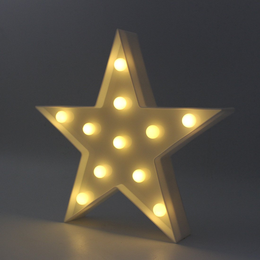 LED Star Light,Cute Star Night Table Lamp Light for Kids' Room Bedroom Gift Party Home Decorations White Color