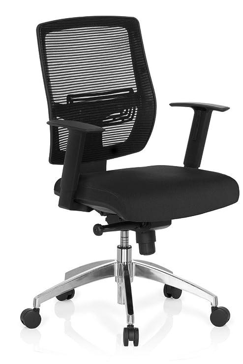 hjh OFFICE 657284 Bürostuhl Drehstuhl NET GO Stoff Netzstoff schwarz / schwarz, erstklassiger Verarbeitung, höhenverstellbare