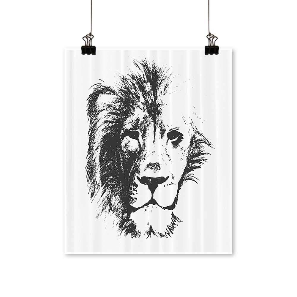 Amazon com art canvas prints the king of the jungle pencil drawing