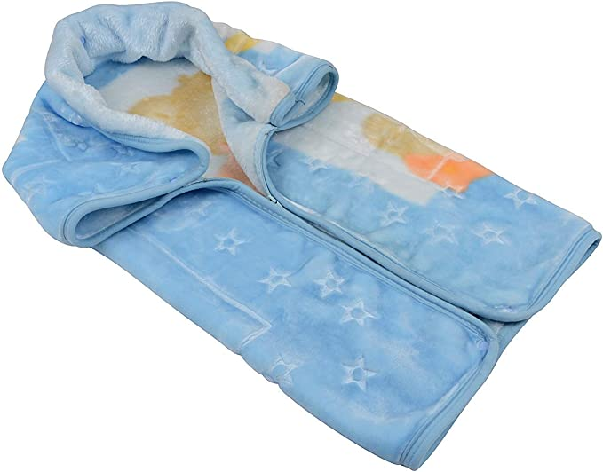 Saco manta bebe - baby sac- convertible en manta - celeste- hecho en españa: Amazon.es: Bebé