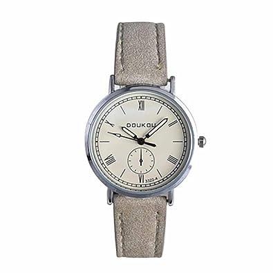Logobeing Mujeres Cuarzo Analógico Reloj de Pulsera de Cuero de Lujo Mujer Relojes (Blanco)