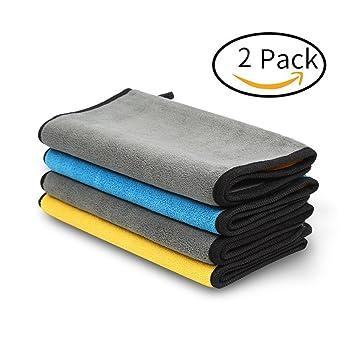 YUYUGO 2 paquetes de toallas de microfibra para limpieza de coches, toalla de limpieza de