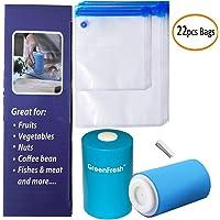 Kit de Sacs Sous Vide, 22 Sacs Scellés SousVide Réutilisables Sans BPA Avec Scellant Sous Vide, Pratiques Pour la Conservation et la Cuisson des Aliments