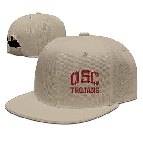 Jax D unisex-adult USC Trojans Logo Gorra de Visera Plana Tapas ...