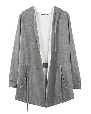 Wxian Men's Hip-Hop Hooded Fleece Jacket