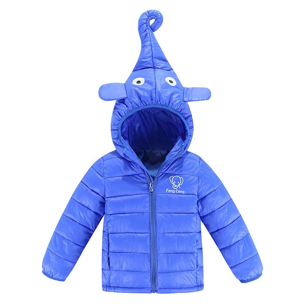 XXYsm Baby Mädchen Jungen Mantel mit Kapuze Winter Jacken Dicke warme Outwear Kapuzen mit Elefanten Nase