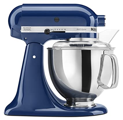 KitchenAid KSM150PSBW Artisan Series 5 Qt Stand Mixer With Pouring Shield