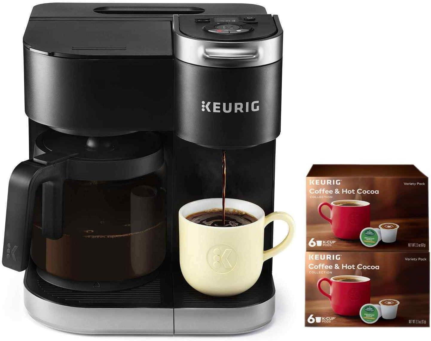 Keurig K-Duo Cafetera de goteo para una sola porción y 12 tazas ...
