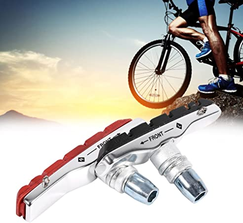 Mountain Bike Road Cycling Rubber V Brake Holder Shoes Pads Accessories 4pcs