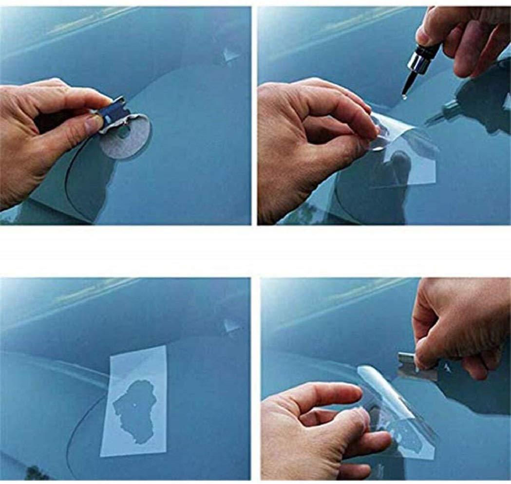 Vetro Resistente per Riparazione di rottami di Graffi e Crepe Hozora Kit di Resina per Riparazione di Parabrezza di Riparazione di Parabrezza di Vetro per Auto Bianca