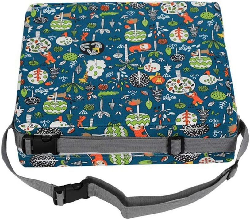 Eternitry Baby Dismountable Booster Seat Cushion With Adjustable Buckle Waterproof Removable Cover Dining Chair Pads Travel Highchair Mat For Children Kids Toddlers
