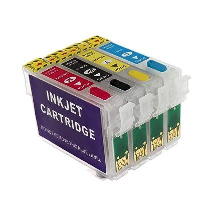 Cartucho de Tinta Recargable T0711 T0712 T0713 T0714 para Epson ...