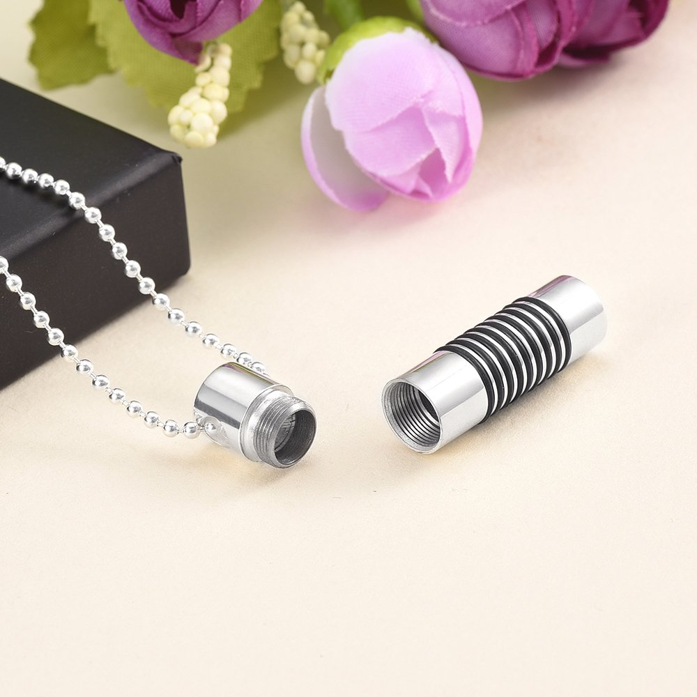 constantlife Openable Cylinder Ash Lockets Stainless Steel Fashion Necklace Cremation Ashes Pendant Funeral Urns