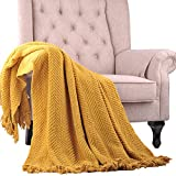 Home Soft Things BOON Knitted Tweed Throw Couch Cover Blanket, 50