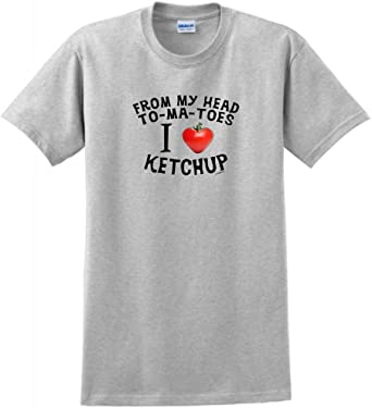 I Love Ketchup Tomato 8 Colours Kids // Childrens T-Shirt Funny