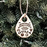 Ornament - Ouija Board - Raw Wood 3x2in